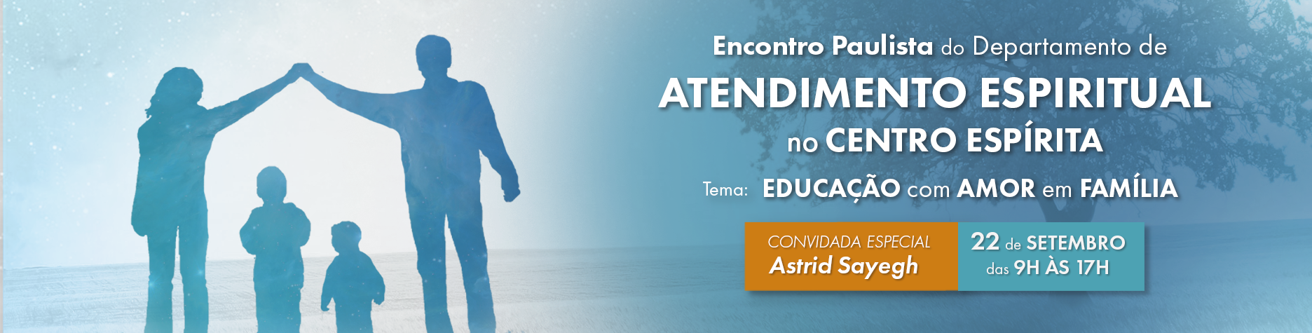 Inscrições abertas para o Encontro Paulista do Departamento de Atendimento Espiritual no Centro Espírita