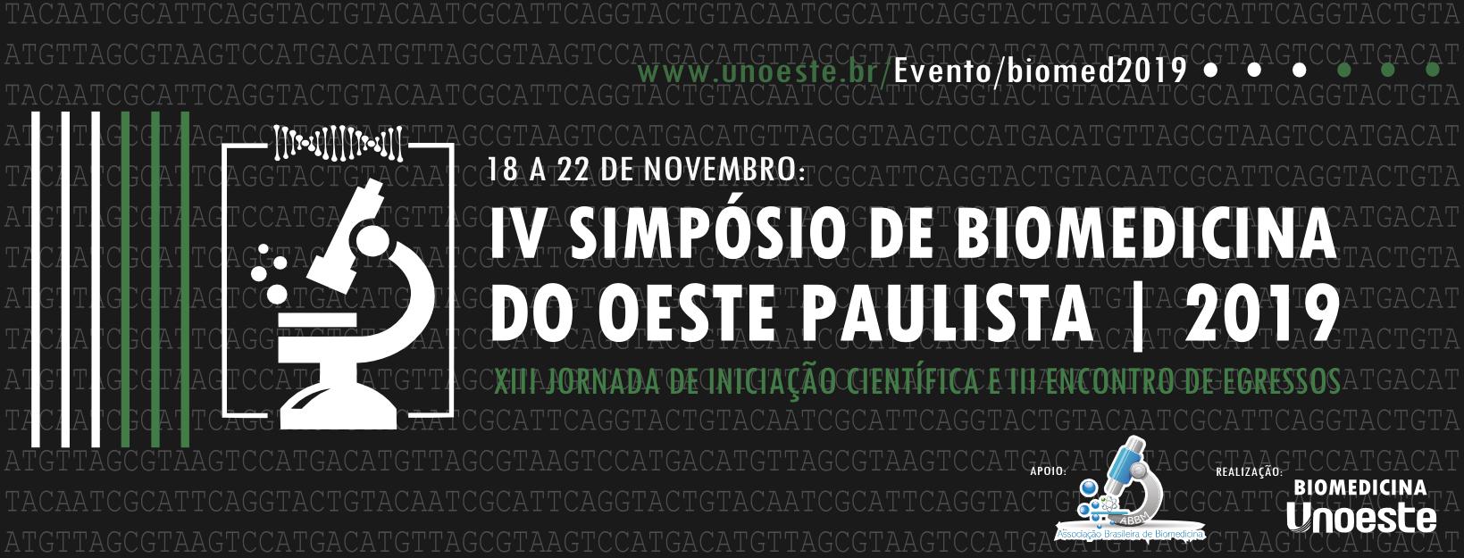 VI SIMPÓSIO DE BIOMEDICINA DO OSTE PAULISTA - 2019